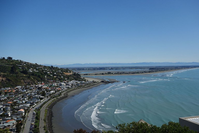 Looking down on Sumner (left) from Scarborough Hill