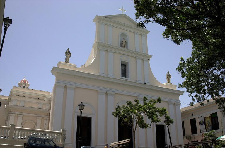 The San Juan Cathedral in Old San Juan