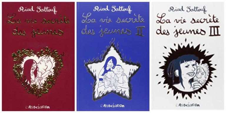 Three volumes of La vie secrète des jeunes │ Courtesy of l'Association