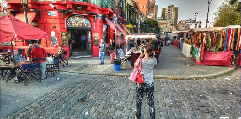 A tourist in Buenos Aires