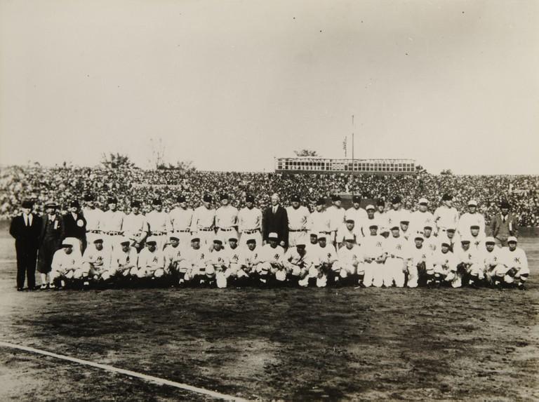 American players visit Japan in 1934