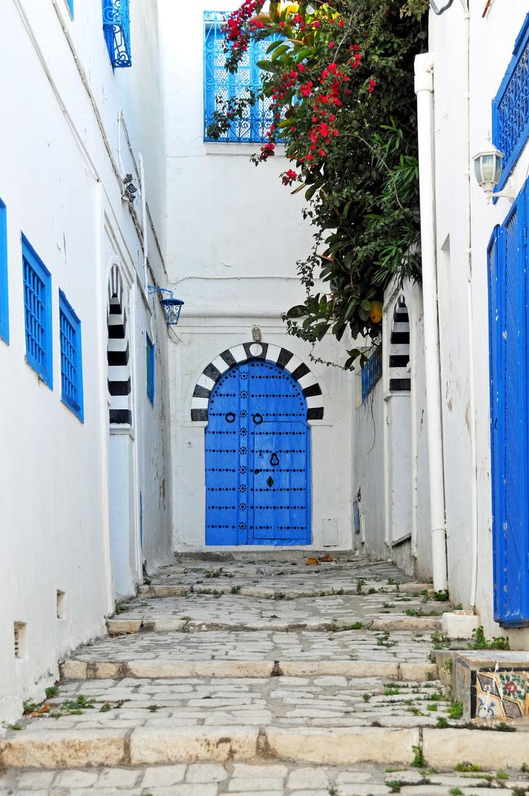 The blue doors of Tunisia