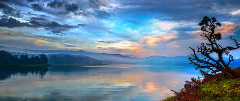 The pristine Umiam Lake in Meghalaya