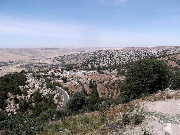 Breathtaking views of the Golan Heights from Umm Qais