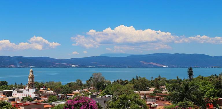 View of Chapala Lake from Ajijic and Chapala