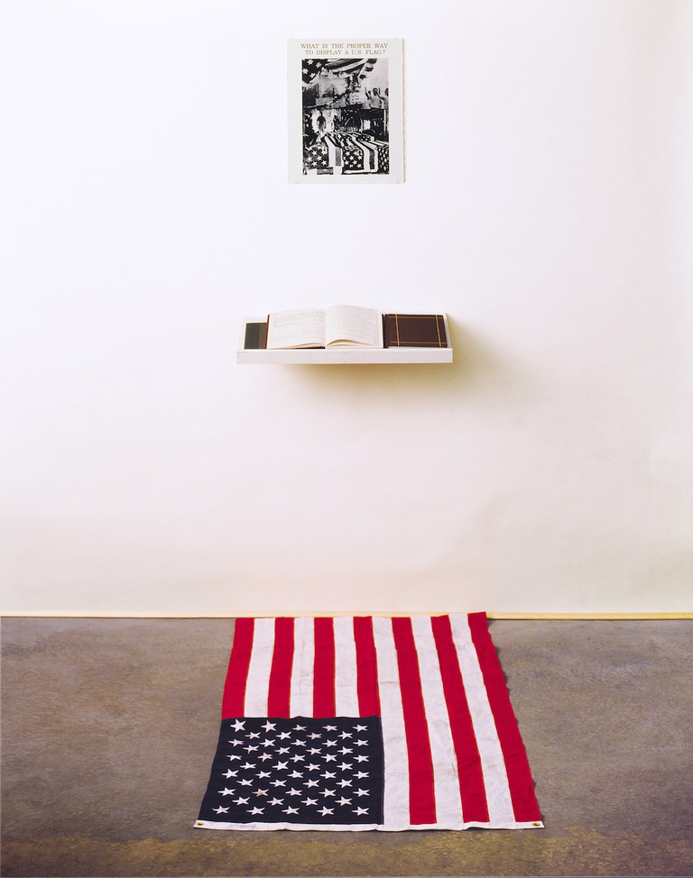 "Dread Scott, ""What is the Proper Way to Display a US Flag?"""