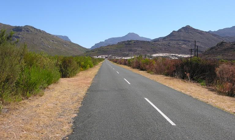 Driving from Worcester to Stellenbosch