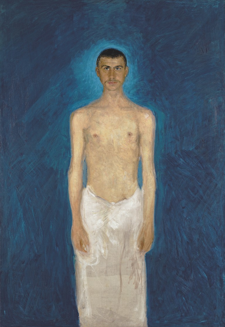Richard Gerstl (1883-1908), Semi-Nude Self-Portrait, 1902-04