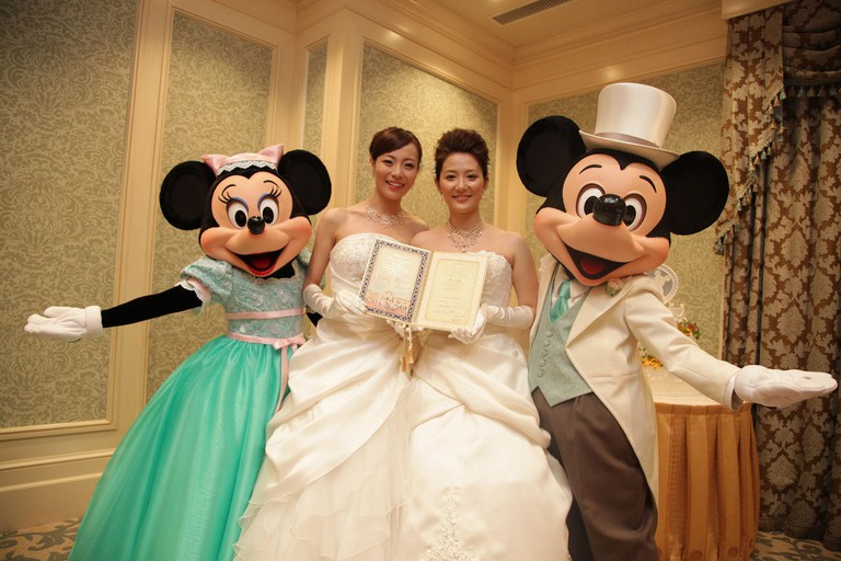 A fairy tale wedding for the happy couple