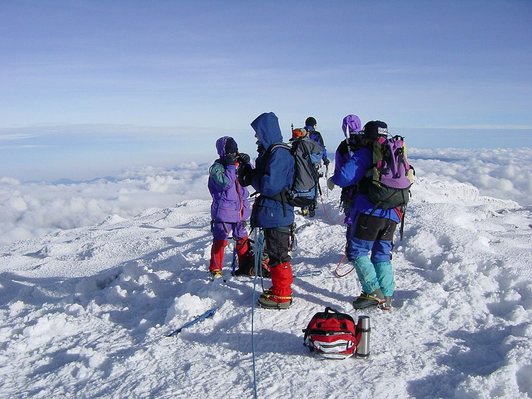 Climbers on Chimborazo
