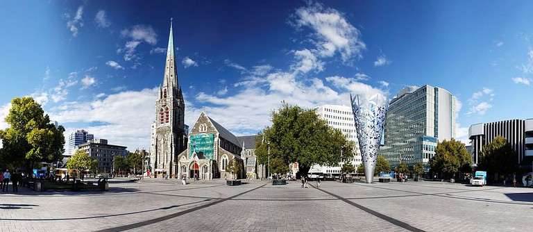 Christchurch Cathedral Square in 2010