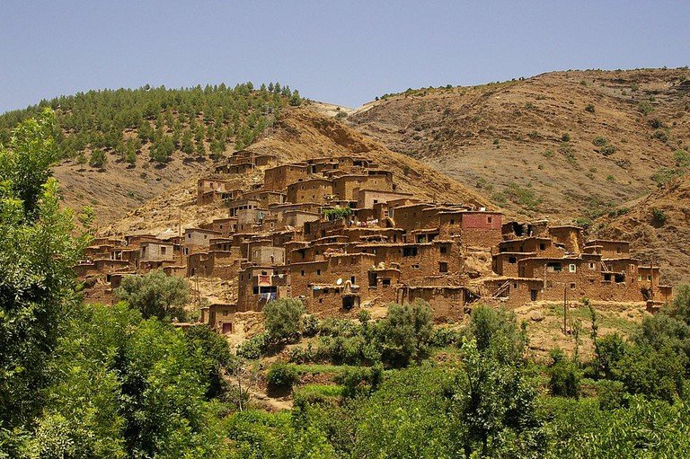 Traditional Berber village in Ourika Valley, Morocco