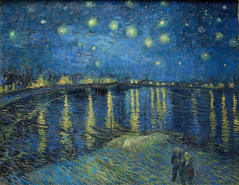 Starry Night Over The Rhone, painted in Arles in September 1888