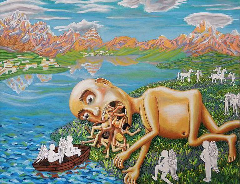 Work by artist David Shackleton