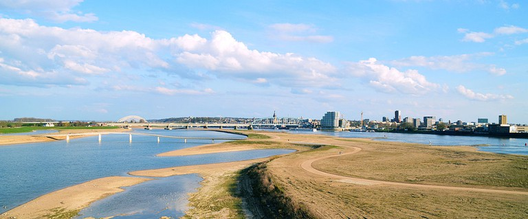 Nijmegen and the Waal river