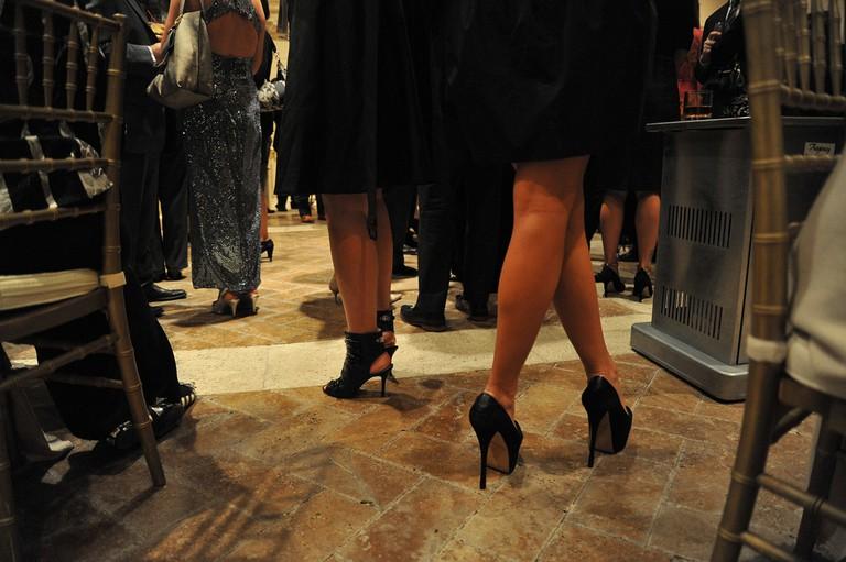 Formal wear is de rigueur in Greek weddings