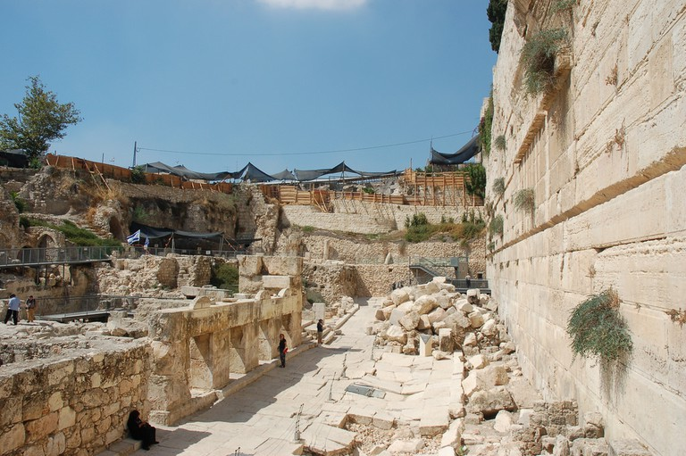 Archeology Site – Outside Southwest Corner Temple Mount – Jerusalem Israel