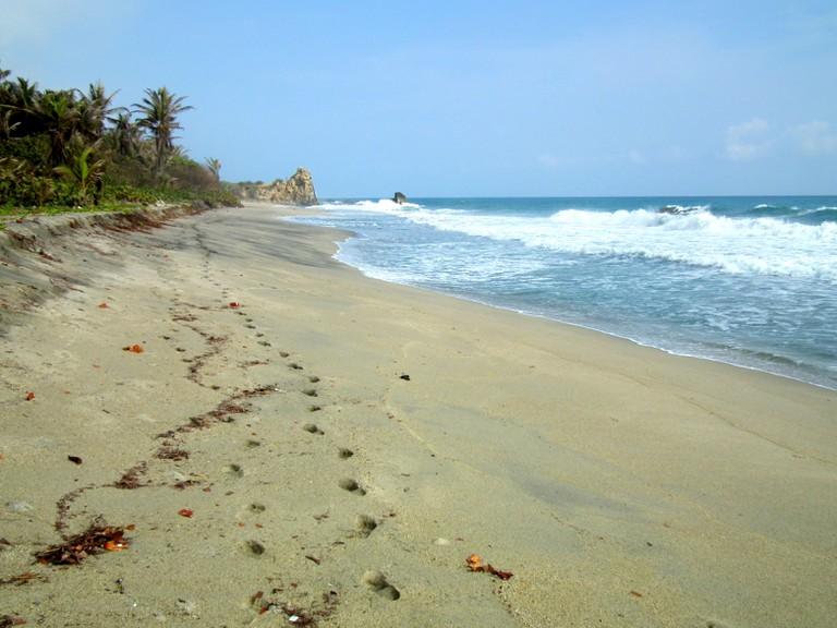 Castilletes beach in the east of Tayrona National Park
