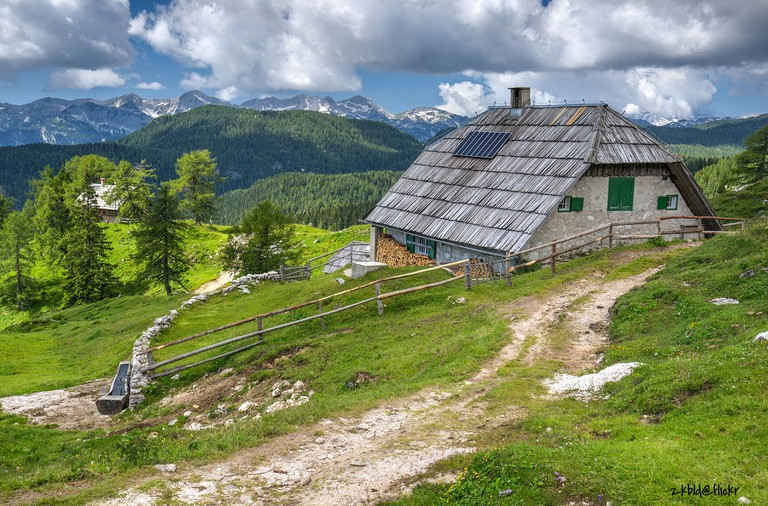 A traditional house in Triglav National Park│