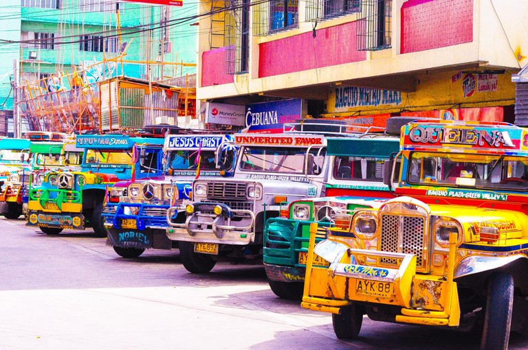 Colourful jeepneys