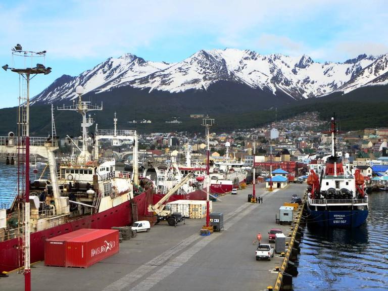 Pier in Ushuaia, Argentina