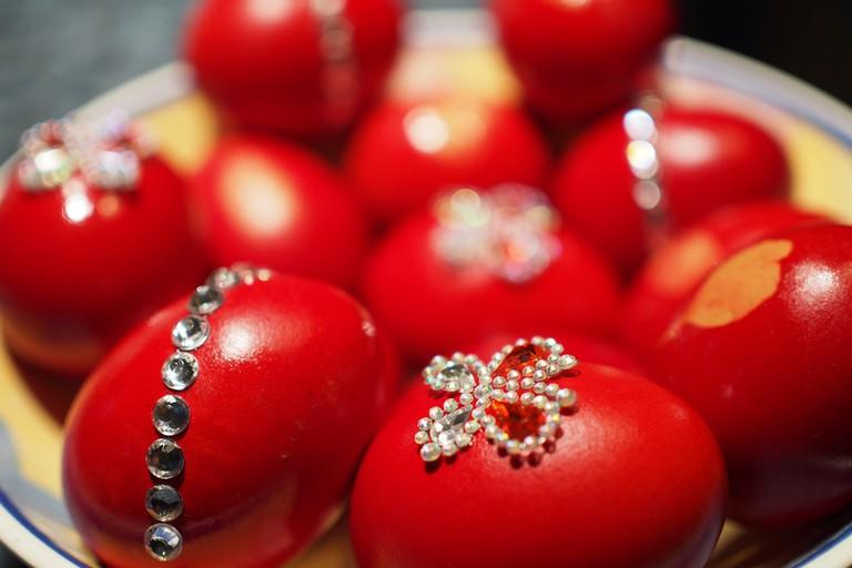 Ornate Greek Easter eggs