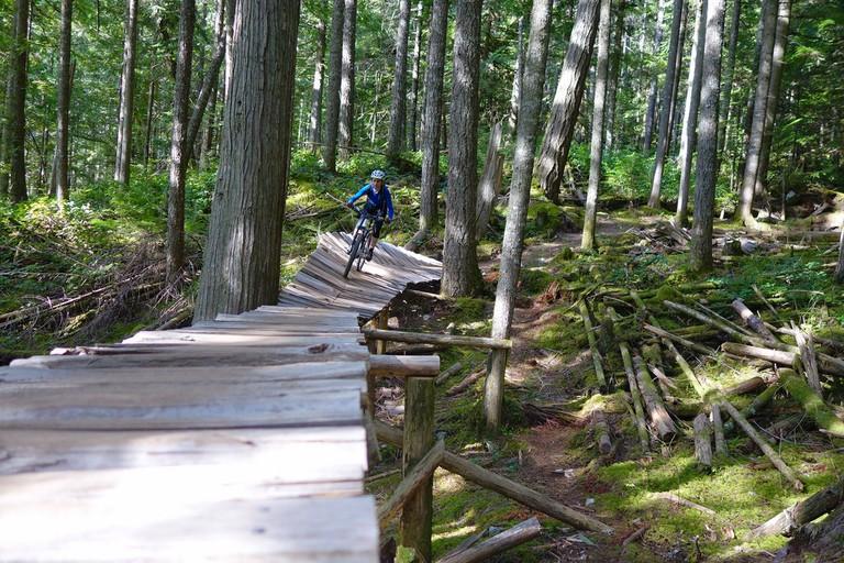 Bike trails in Squamish