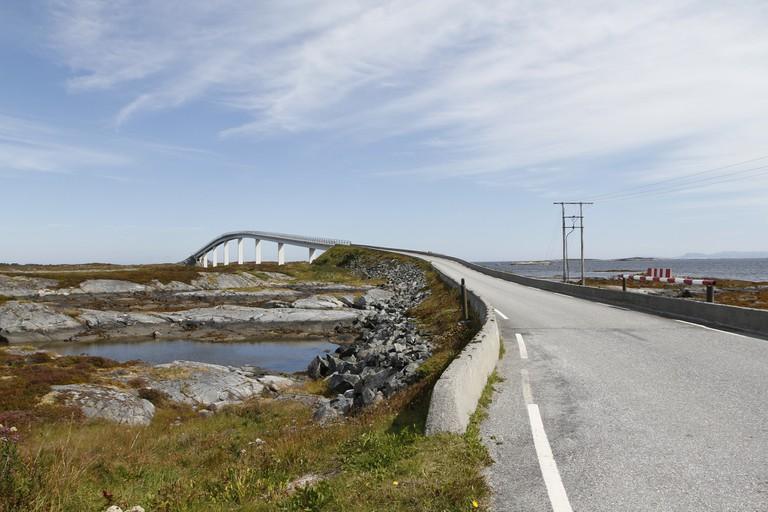 Island road at Smøla