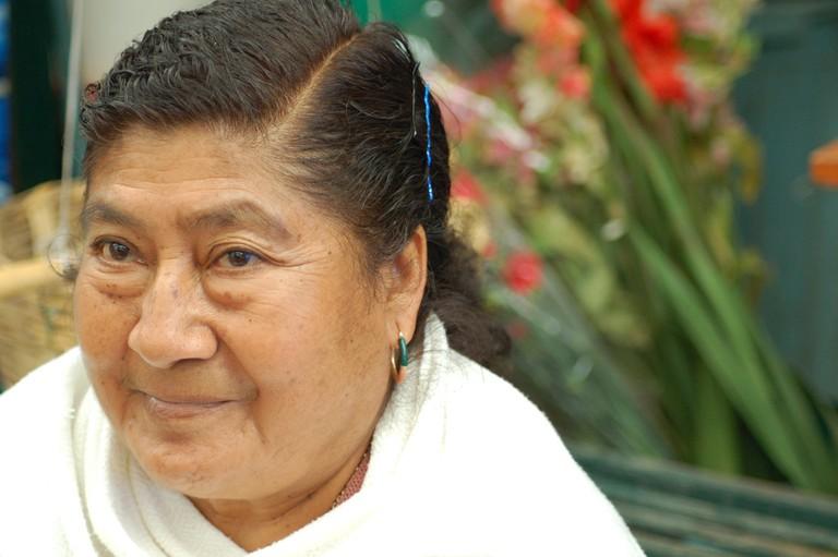 Zapotec woman in Oaxaca