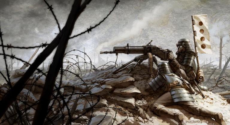 Greg Broadmore – Machinegun Samurai, on display in Ahem