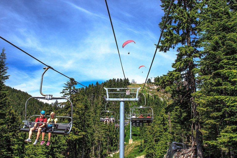 Two ways to take to the sky at Grouse