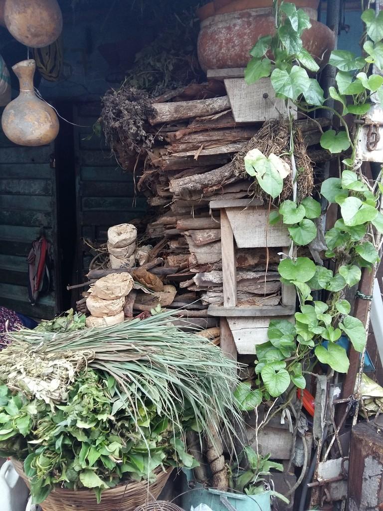 A herbs stall