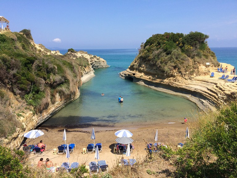 Beautiful beach in Corfu