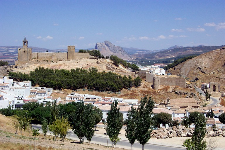 The beautiful town of Antequera is almost exactly halfway between Granada and Seville I
