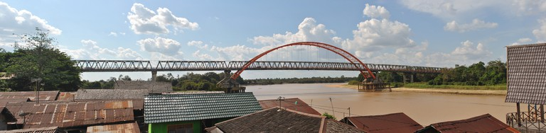The Kahayan Bridge in Palangkaraya, Indonesia