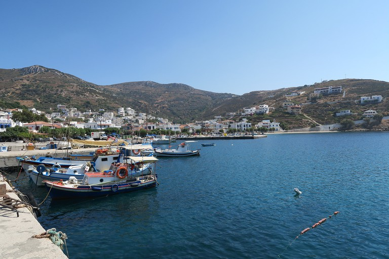 The small harbour of Fourni, Greece