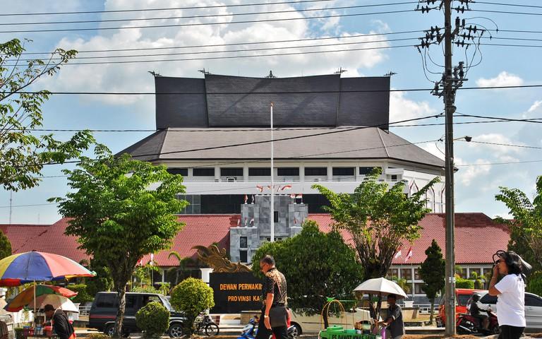 A regional government building in Palangkaraya, Indonesia