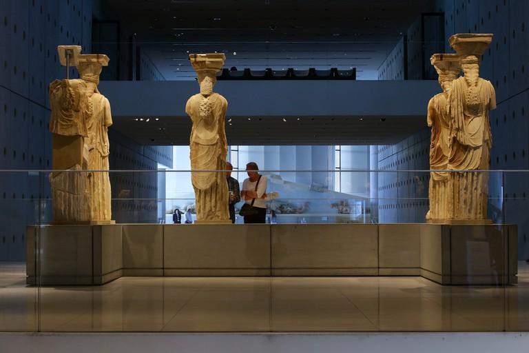 Karyatid statues at the Acropolis museum