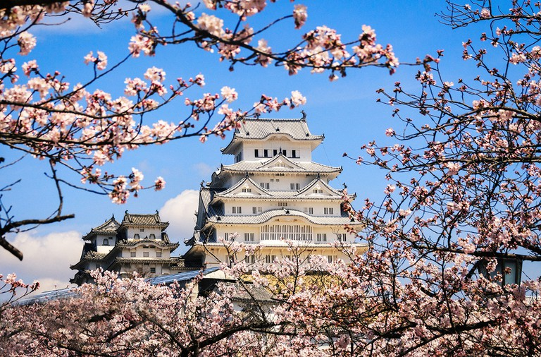 Himeji is also home to the White Heron Castle