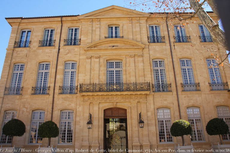 The Hôtel Caumont which is opposite Cézanne's school and runs a permanent film on his life and work