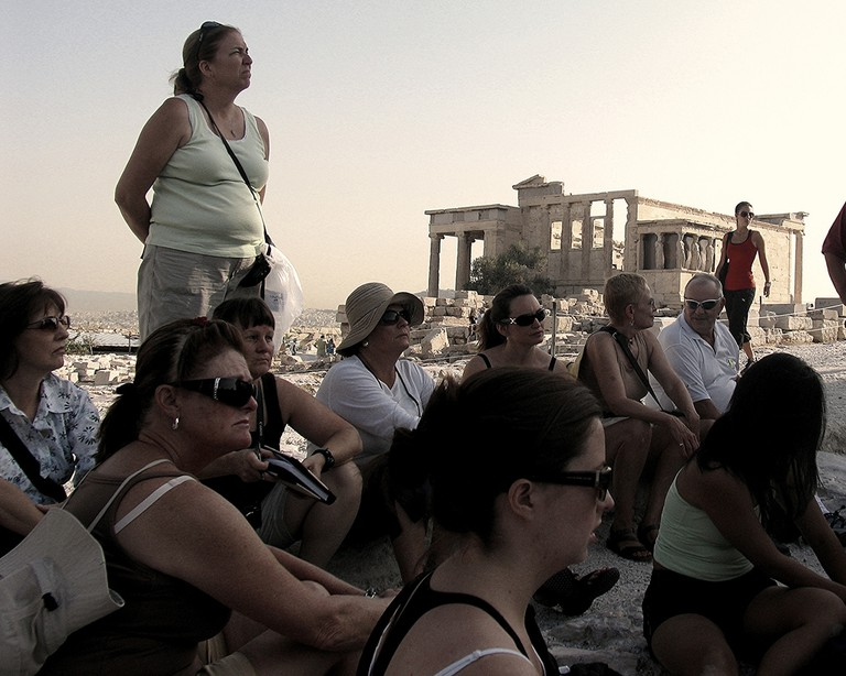 Guided tour at the Acropolis