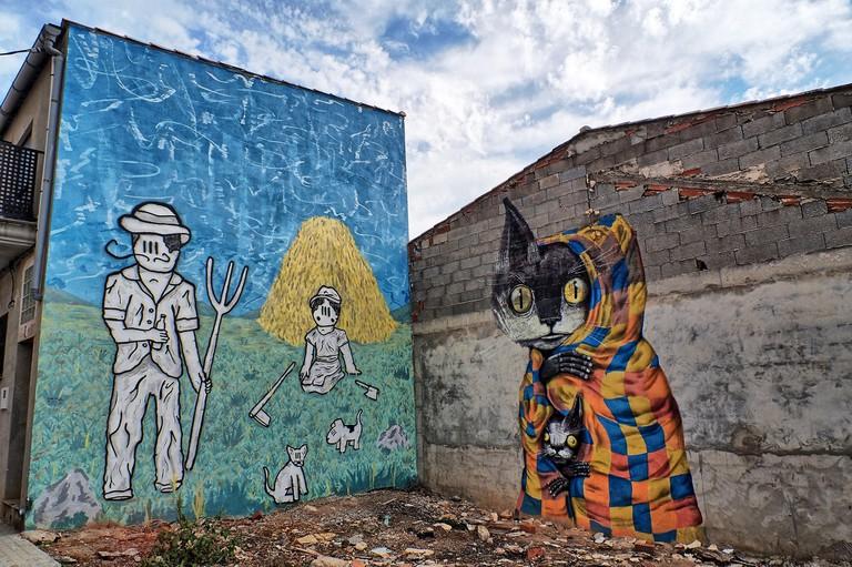 Street art in the village of Fanzara