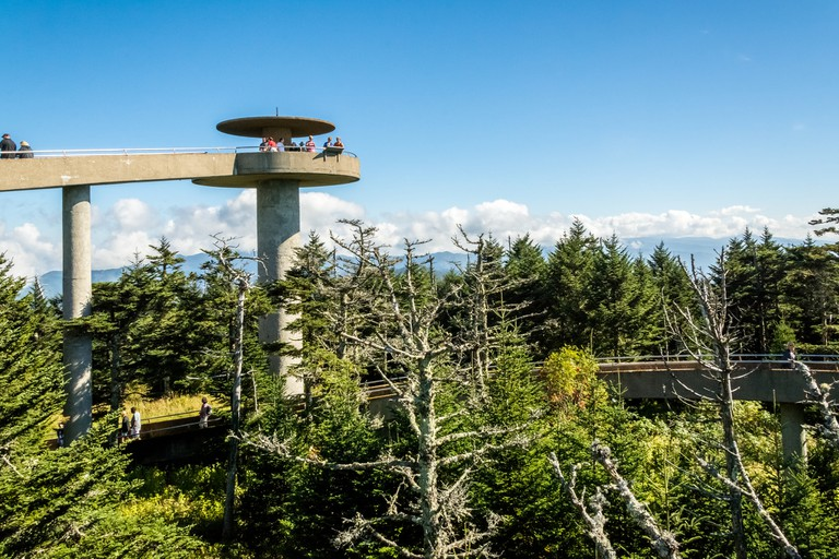 Clingmans Dome Observation Tower, the Great Smoky Mountains