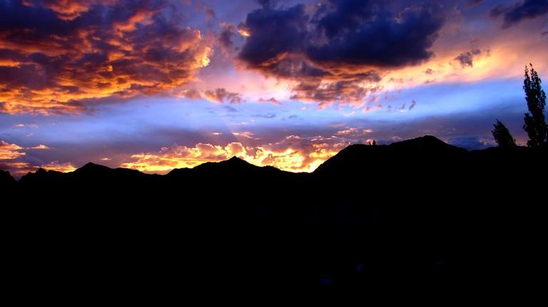 Sunset Leh Ladakh