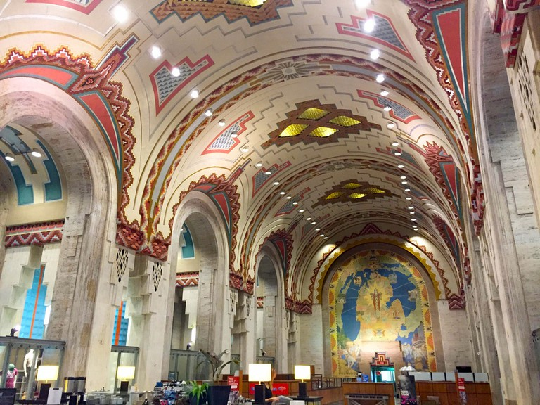 The Guardian Building's famous lobby