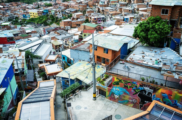 Escalators in Comuna 13, Medellin