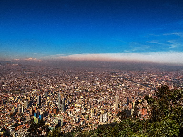 The view of Bogota from Monserrate