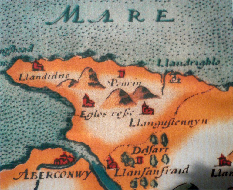16th century Welsh map