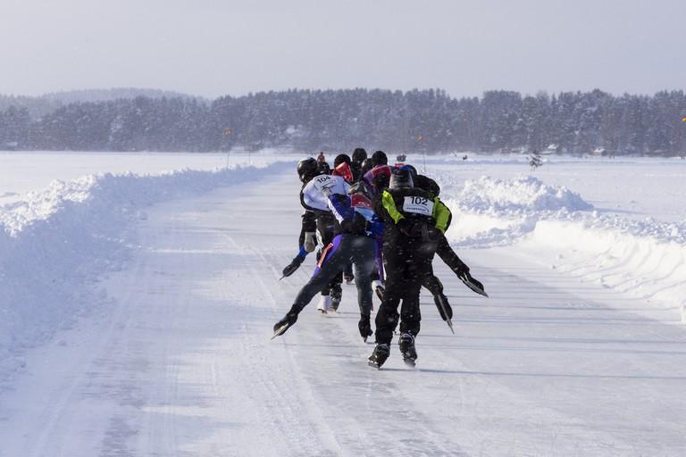 Competitors in the Finland Ice Marathon 2017 / Visit Lakeland / Flickr
