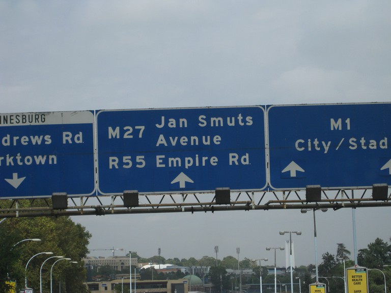 References to previous politicians and historical figures are still visible in South Africa